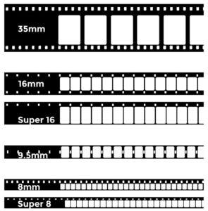 Différents formats de films argentiques